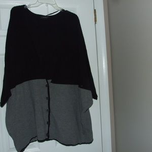 Lane Bryant Bat Wing Grey & Black Sweater 14/16